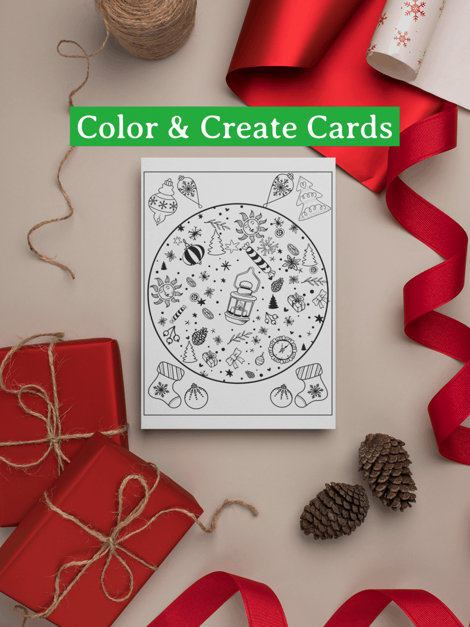 Color Me Christmas Cards